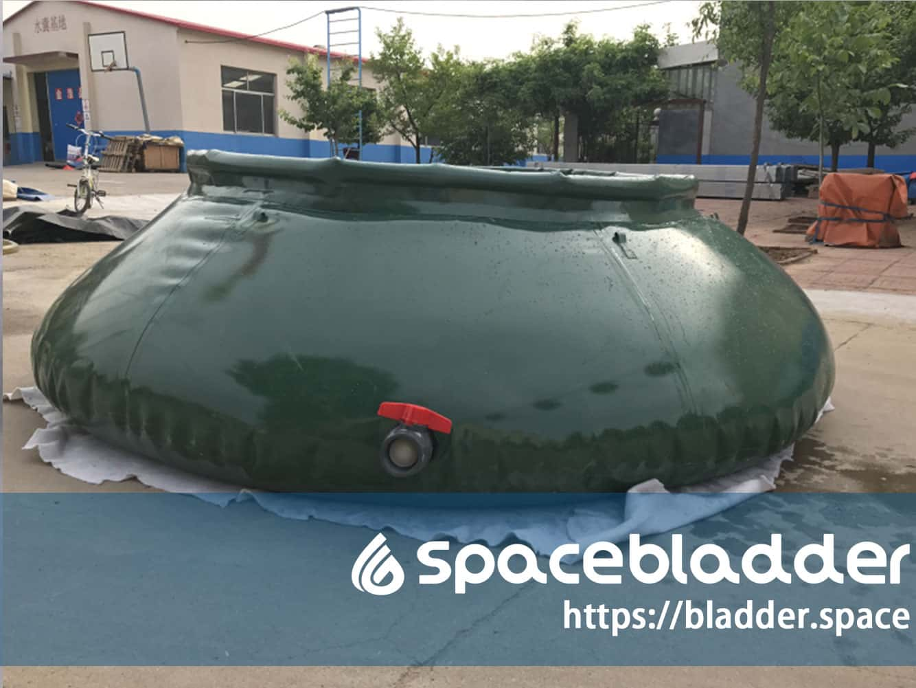 150Gallon Onion Shape Food Grade Water Tank for Amry Application-1