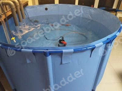Flexible Collapsible Round Movable KOI Fish Tank 1
