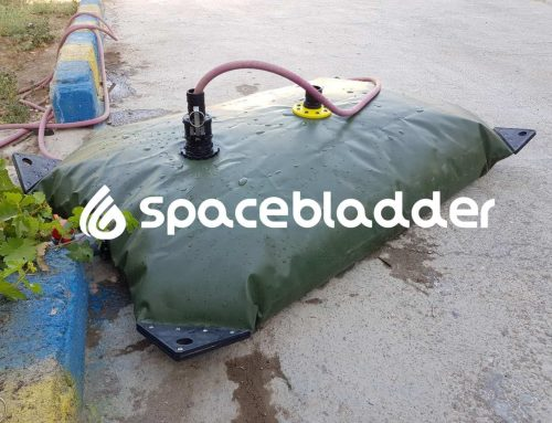 SpaceBladder TPU Pillow Water Tank for House Water Saving Purpose