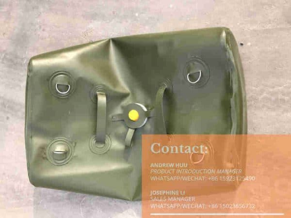 collapsible fuel bladder tank