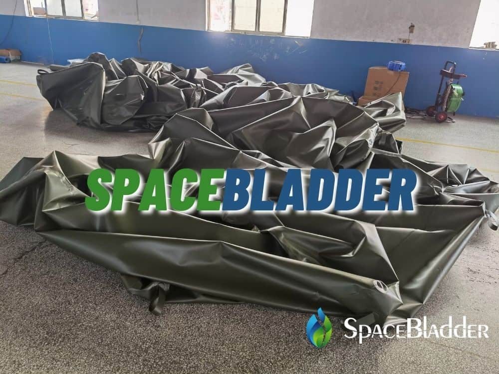 production picture of 40kl square shape bladder tank