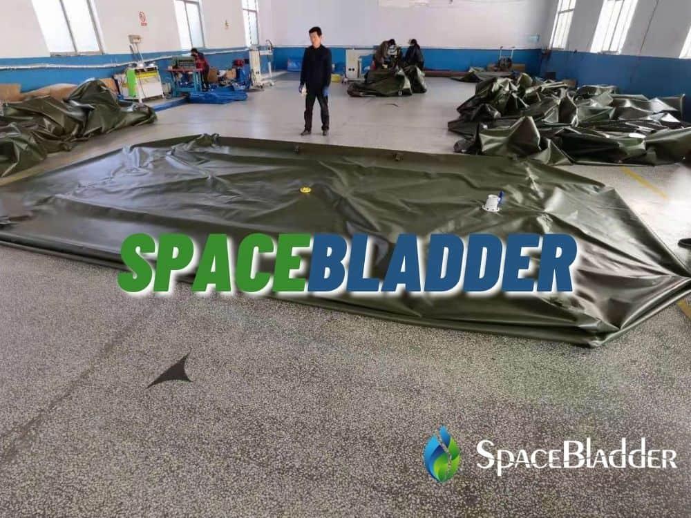 production picutre of 20kl pillow bladder tank