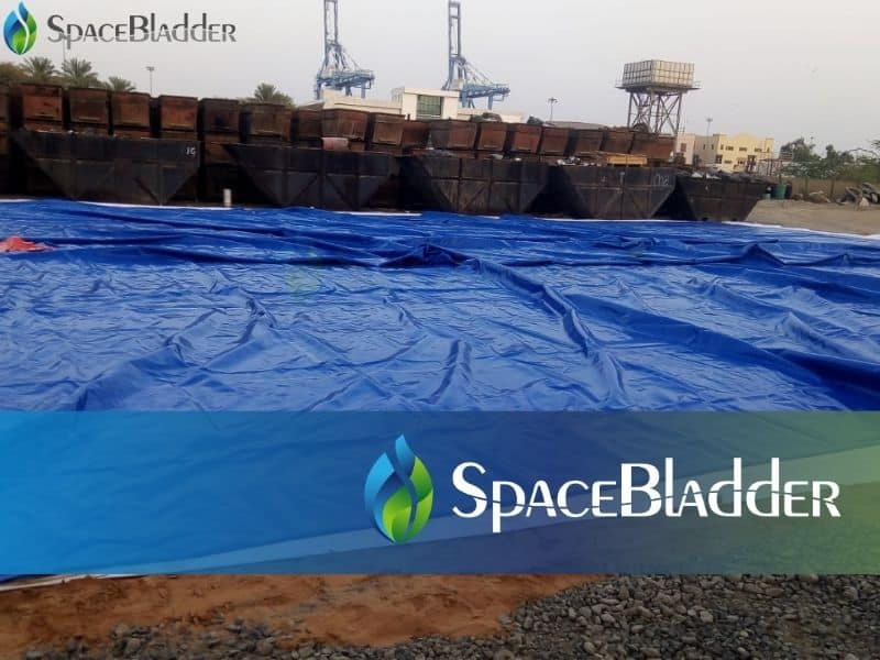 put the 500m3 water bladder in the floor