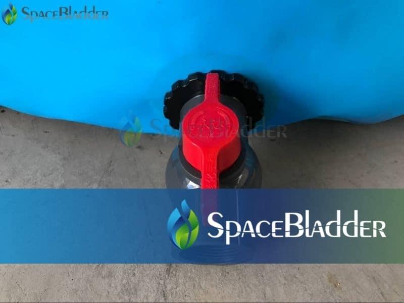 2000l backyard pvc tarpauline fish farming tank outlet valve