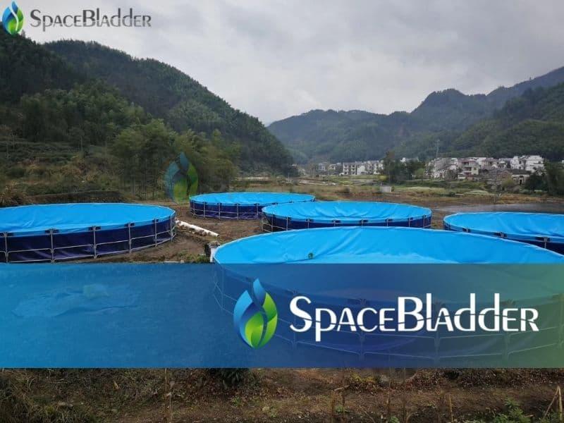 120000l pvc tarpaulin round large fish farming tanks 3