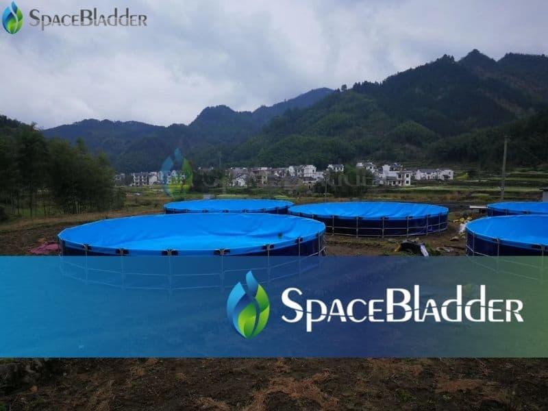 120000l pvc tarpaulin round large fish farming tanks 4