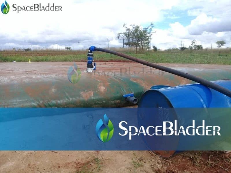 50,000l flexible pillow shape water bladder storge tank for irrigation 3